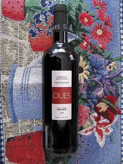 DUES Cabernet Sauvignon Mantonegro 2009_d0036883_6351962.jpg