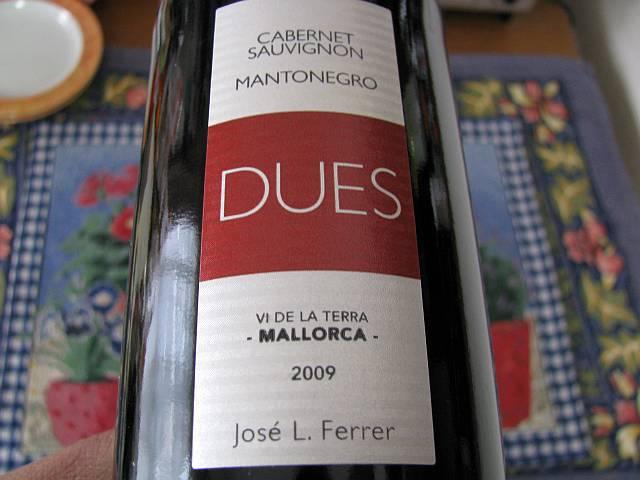 DUES Cabernet Sauvignon Mantonegro 2009_d0036883_6352685.jpg
