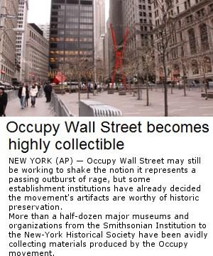 大手博物館が「ウォール街を占拠せよ!」デモ関連グッズを収集中?!_b0007805_2473118.jpg