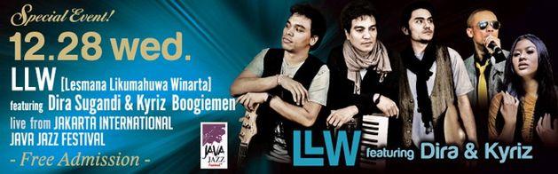 インドネシアのバンド・LLW公演@ブルーノート東京にブルーイ(INCOGNITO)からメッセージ_a0054926_13561915.jpg