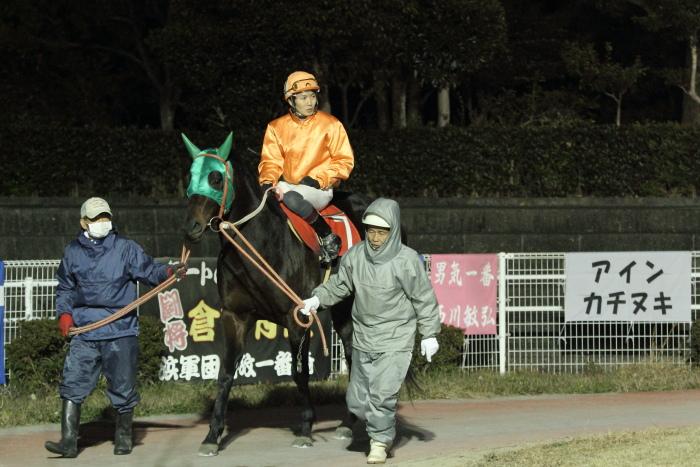 2011年12月25日(日) 高知競馬 9R 馬産地日高協賛特別 C2-1選抜馬_a0077663_95873.jpg