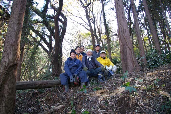 六国見山森林公園の今年最後の臨時手入れ終了:12・24_c0014967_2312519.jpg
