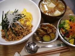 12/27丼ごはん:鶏そぼろ丼_a0116684_18501355.jpg