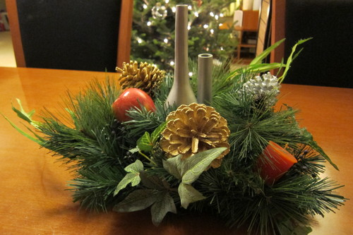 廃品でクリスマス・デコレーション_d0240098_13361995.jpg