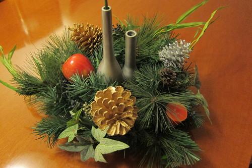 廃品でクリスマス・デコレーション_d0240098_1365882.jpg