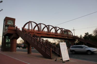 韓国に飫肥杉製の歩道橋?_f0138874_15455143.jpg