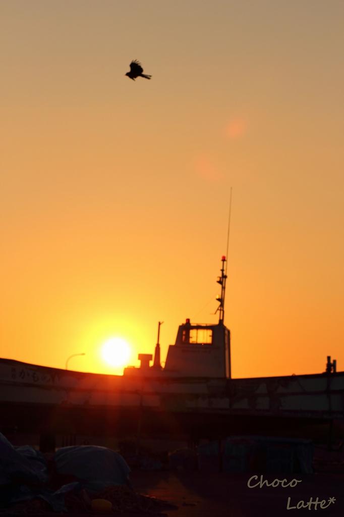 空と夕陽とテトラポット ♪_b0206470_21295634.jpg