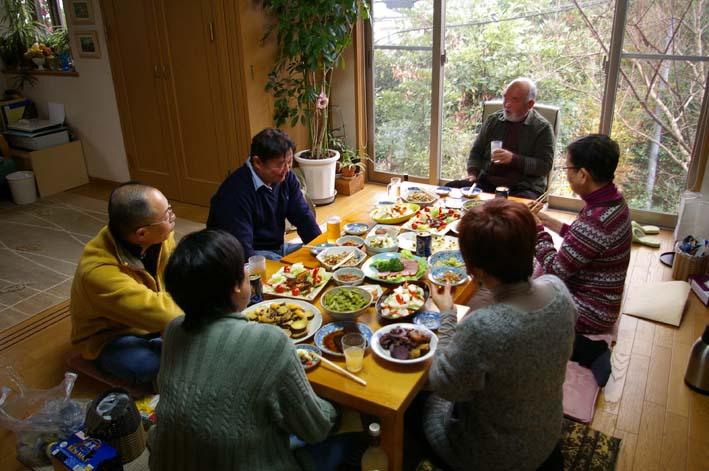 カッちゃん(里山インストラククター)宅で忘年会:12・25_c0014967_11244119.jpg