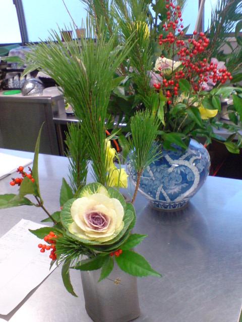 お正月の準備、新年のお花。_d0182179_20132356.jpg