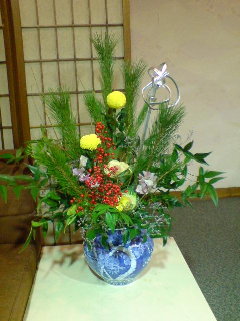 お正月の準備、新年のお花。_d0182179_2124873.jpg
