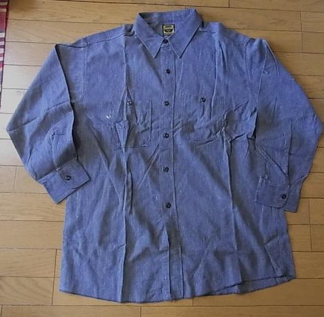 ブラックシャンブレーシャツ!_c0144020_11535760.jpg