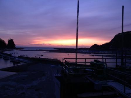 小本漁港の夜明け(元旦特集1)_b0206037_9513599.jpg