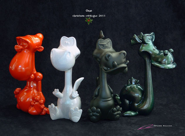 4 piece/multi-color resin character collection_e0118156_10521649.jpg