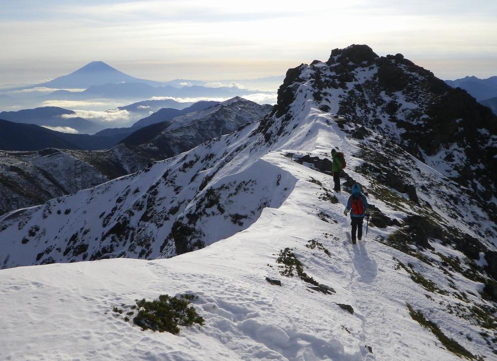 正月山行は塩見岳_b0133032_13534344.jpg