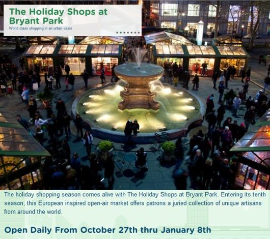 NYのブライアント・パークのホリデー・マーケットは新年になってもまだオープン中?!_b0007805_13562741.jpg