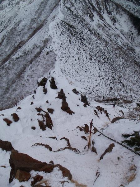お正月登山 南八ヶ岳縦走-阿弥陀岳へ_c0177814_2330499.jpg