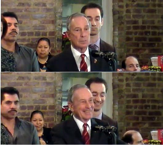 ブルームバーグNY市長とレディ・ガガさんのキス写真が地元紙の一面に_b0007805_0291635.jpg