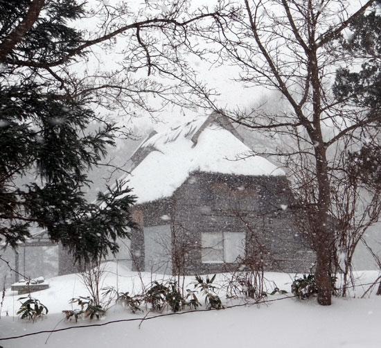 茅葺き民家、冬景色♪_a0136293_14305099.jpg