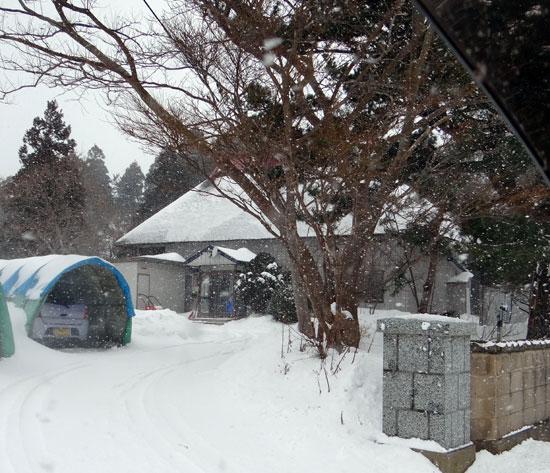 茅葺き民家、冬景色♪_a0136293_14354677.jpg