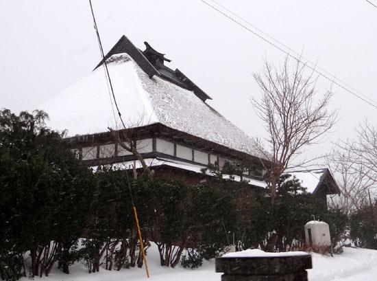 茅葺き民家、冬景色♪_a0136293_14383628.jpg