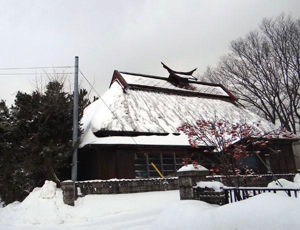 茅葺き民家、冬景色♪_a0136293_1522856.jpg