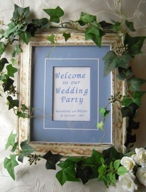 Bridal ☆ Welcome board _b0197225_8583933.jpg
