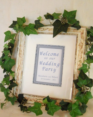 Bridal ☆ Welcome board _b0197225_945142.jpg