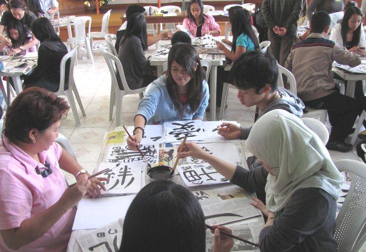 書初め大会 New Year Calligraphy writing 2012_a0109542_11431788.jpg