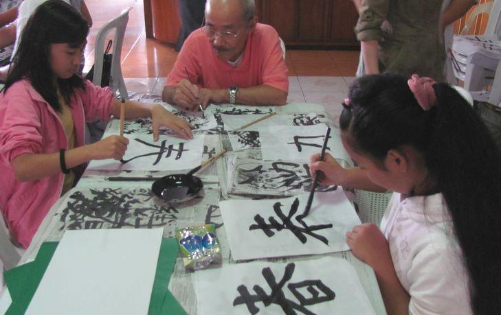 書初め大会 New Year Calligraphy writing 2012_a0109542_11562380.jpg