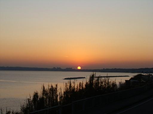 野比海岸 本日の夕陽_a0195373_23154011.jpg