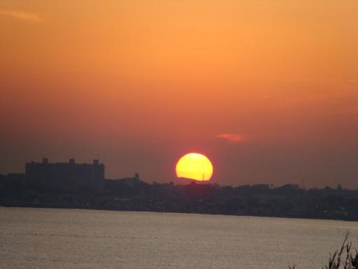 野比海岸 本日の夕陽_a0195373_23155899.jpg