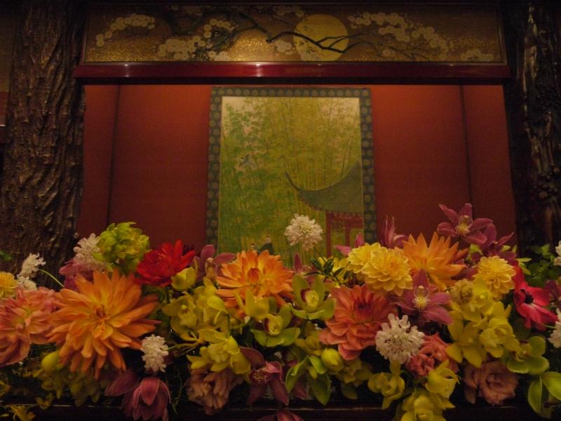 会場装花 おまかせで、和の装花 目黒雅叙園様へ_a0042928_22303813.jpg