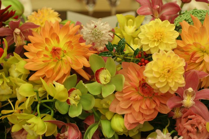 会場装花 おまかせで、和の装花 目黒雅叙園様へ_a0042928_2231765.jpg
