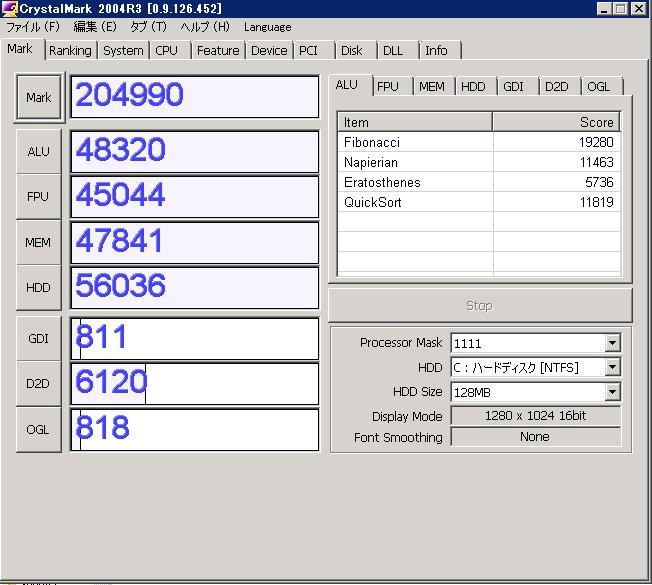 HP ProLiant GL360 G7のベンチマーク_e0091163_0233372.jpg