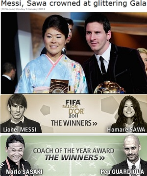 FIFA年間表彰式で澤選手が女子の最優秀選手賞に!!!_b0007805_4335877.jpg