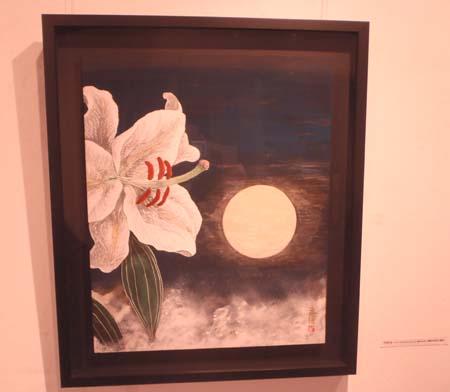 個展「花 栗原永輔日本画展」(Flower-Eisuke Kurihara Japanese painting exhibition.)_e0224057_2175697.jpg