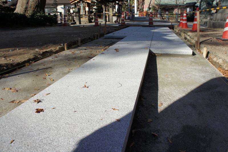 秋葉神社 参道改修工事  2011.12.18_e0223769_16251731.jpg