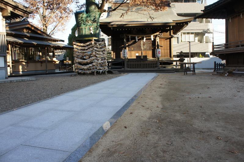 秋葉神社 参道改修工事  2011.12.24_e0223769_16323232.jpg