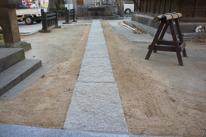 秋葉神社 参道改修工事  2011.12.24_e0223769_16324687.jpg