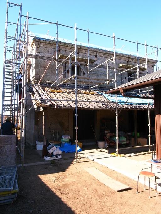 Sさんの家(2010) OM1年点検+石倉補修工事スタート 2012/1/12_a0039934_17244782.jpg