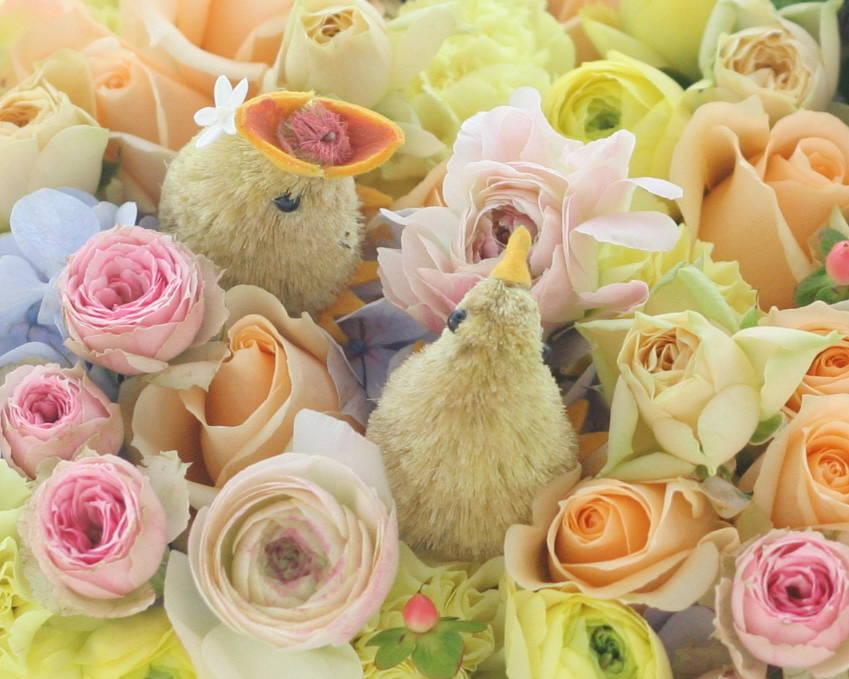 ギフト 花のケーキ ご結婚60周年のお祝いに_a0042928_2228233.jpg