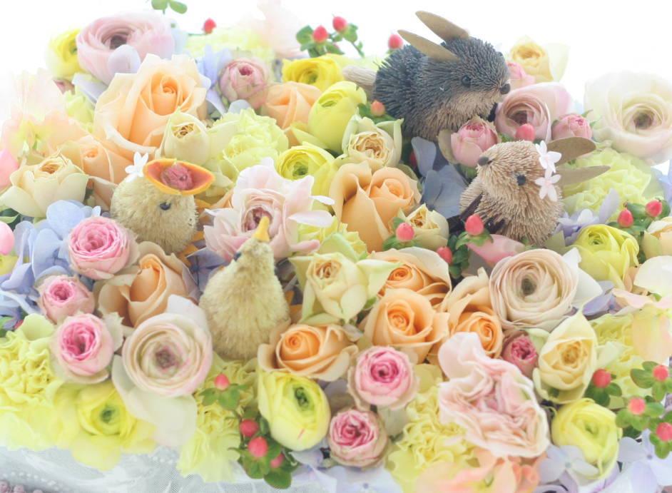 ギフト 花のケーキ ご結婚60周年のお祝いに_a0042928_22283142.jpg