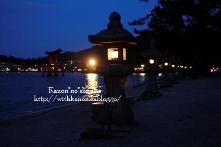 夜の宮島厳島神社@広島_d0148187_0274258.jpg