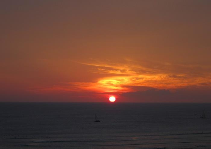 2011冬旅☆ハワイ ~2日目 ラナイからの夕日~_e0232054_20202483.jpg