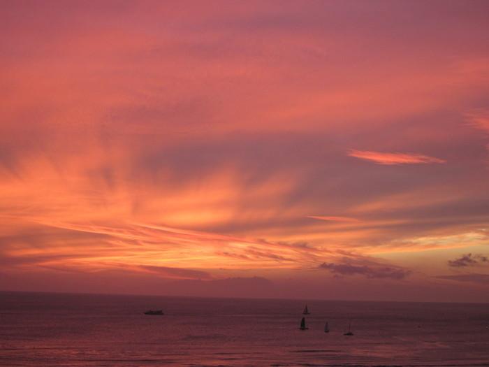 2011冬旅☆ハワイ ~2日目 ラナイからの夕日~_e0232054_20521863.jpg