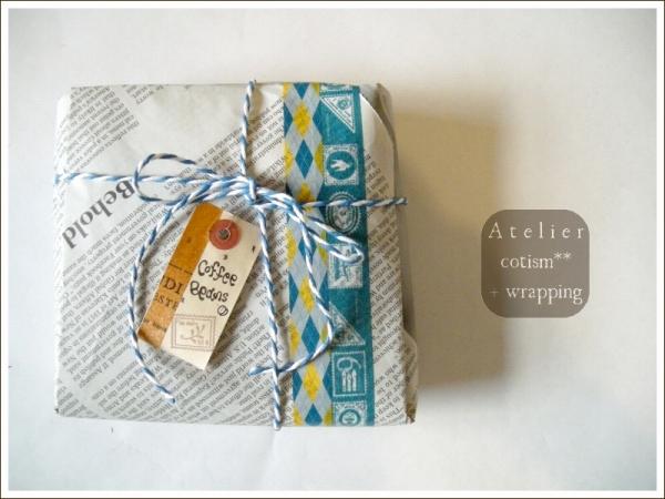wrapping  ** コーヒー豆(2袋) **_b0155684_17492678.jpg