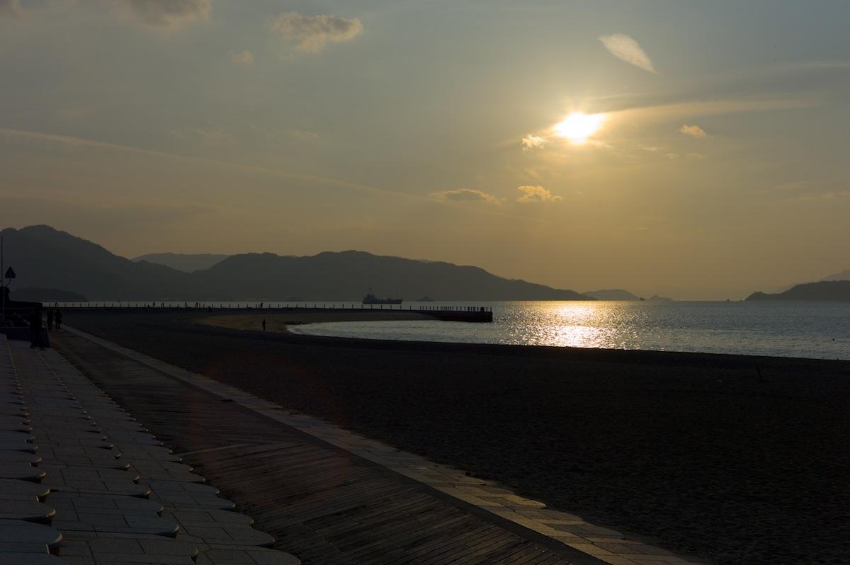 ベイサイドビーチの夕日 その2_f0231512_1353375.jpg