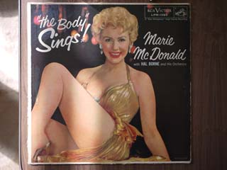 レコードジャケットの補修 ~ Marie Mcdonald / The Body Sings_d0102724_22542485.jpg