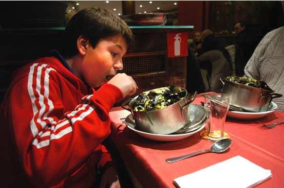 ムール貝@Restaurant Concordia Liege_d0047851_23403554.jpg
