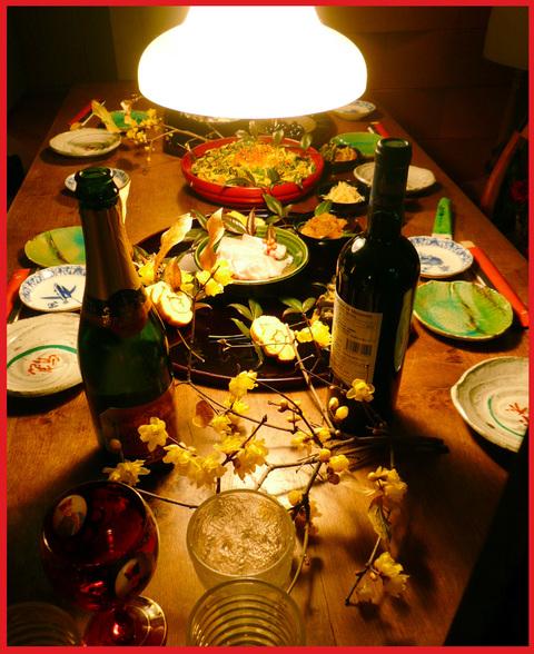 小正月。ぼたん家本格始動の夕ご飯。_e0236072_16221548.jpg